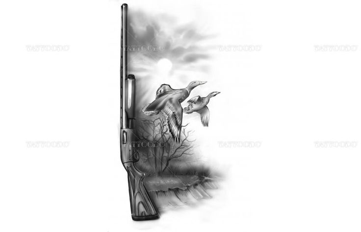 Duck Hunting Theme Tattoo Pictures