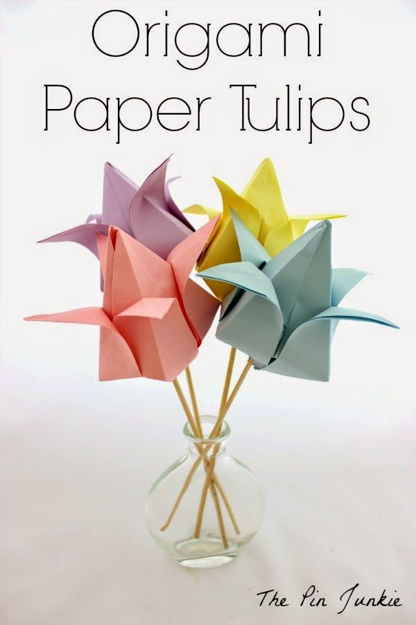 82 best play origami images on pinterest paper art papercraft origami paper tulips mightylinksfo Choice Image
