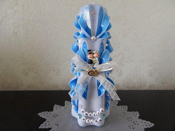 Hochzeitskerze  geschnitzte Kerze.Unikat. von LenzKerzen auf Etsy, €35.00
