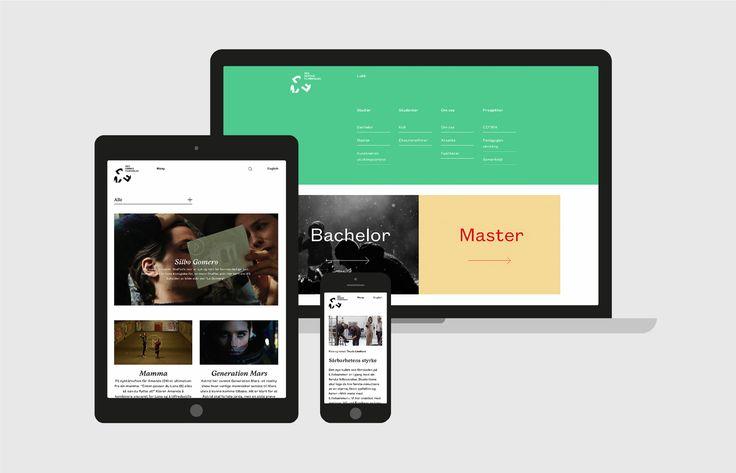 Den Norske Filmskolen by Neue, Norway. #website #design
