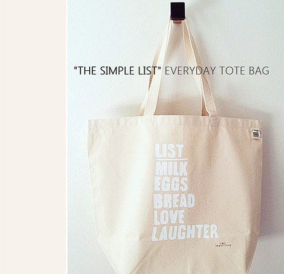 The Simple List Everyday Market & Tote Bag100 Recycled by indobay, $22.00