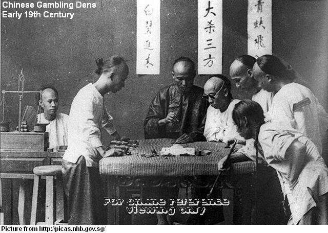 opium dens | 4D, Mahjong and Chap Ji Kee.. History of Gambling in Singapore ...