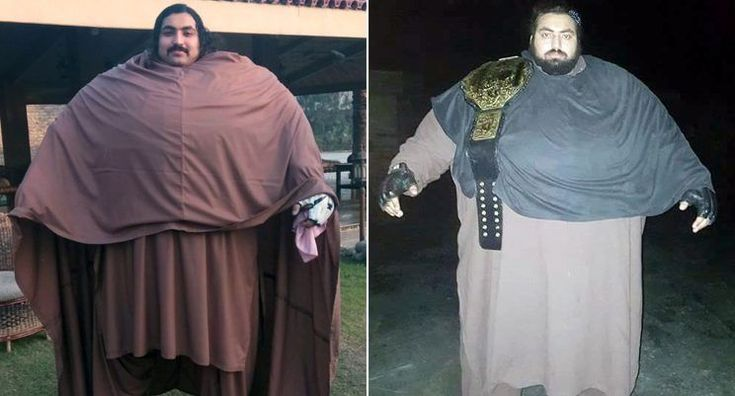 Hercules is no longer a myth – he is for alive and well and living in Pakistan.  Arbab Khizer Hayat issaid to weighan unbelievable 960 lbs (68 stone) at the age of just 25, and says he wants to become the world's strongest man.  A thrilling video shows the big man stopping a tractor and cars with his