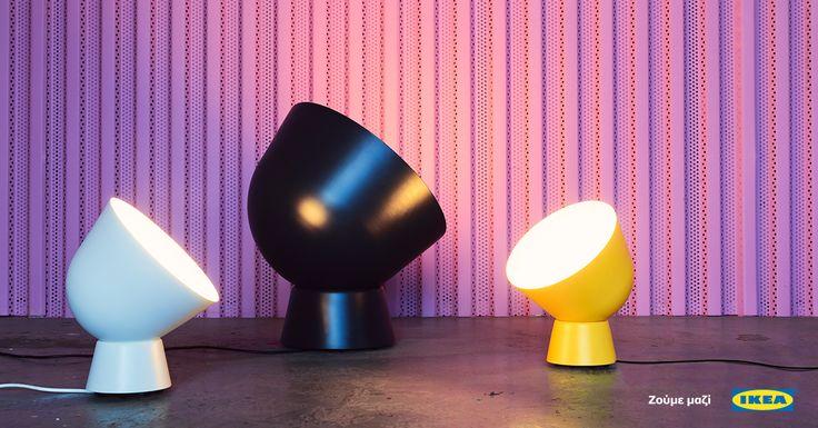 Φωτιστικά που τοποθετούνται σε τραπέζι και στον τοίχο με στιλ και μοναδικό σχεδιασμό. #IKEA #IKEAGreece #IKEAPS2017 #zoumemazi