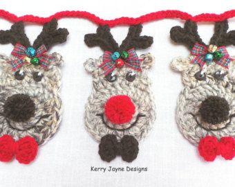 Patrón de Navidad santa Santa Crochet patrón por KerryJayneDesigns