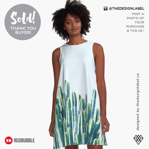 'Cactus V2' A-Line Dress  Sold! #redbubble #fashion #style #designerwear #apparel