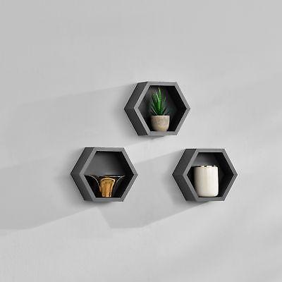 [en.casa]® 3 pieces set hexagon wall shelf | £17.99 for 3 | eBay