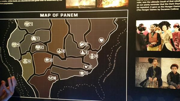 Official map of Panem! At The  Hunger Games Exhibition