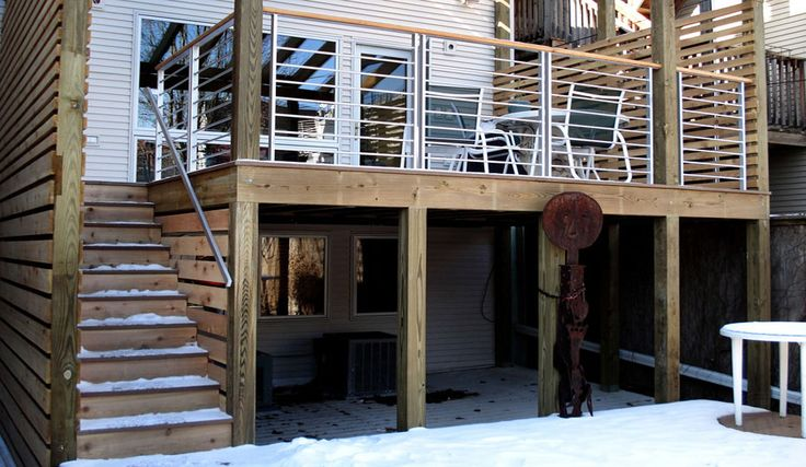Backyard Getaways Herrin Il :  installed and fabricated for a backyard porch for a Chicago home
