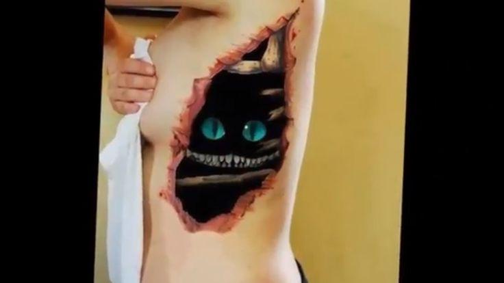 Шок! Реалистичные татуировки 3Д татуировки объемные татуировки 3D в HD т...