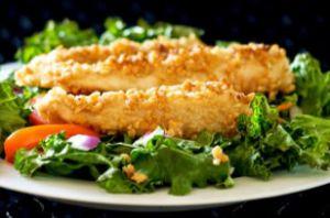 Coconut Encrusted Chicken Salad