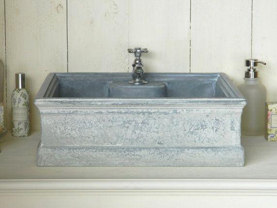 Vessel Sink - Zinc Patina Style