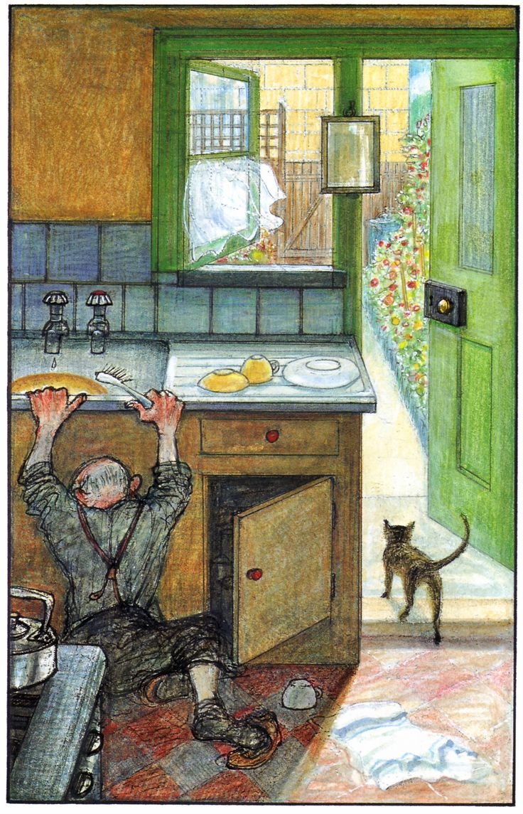 Raymond Briggs - Ethel & Ernest A True Story (about his father and mother) - 1971: Ernest has a stroke - Ethel has died earlier that year (p. 99) (16 of 19)