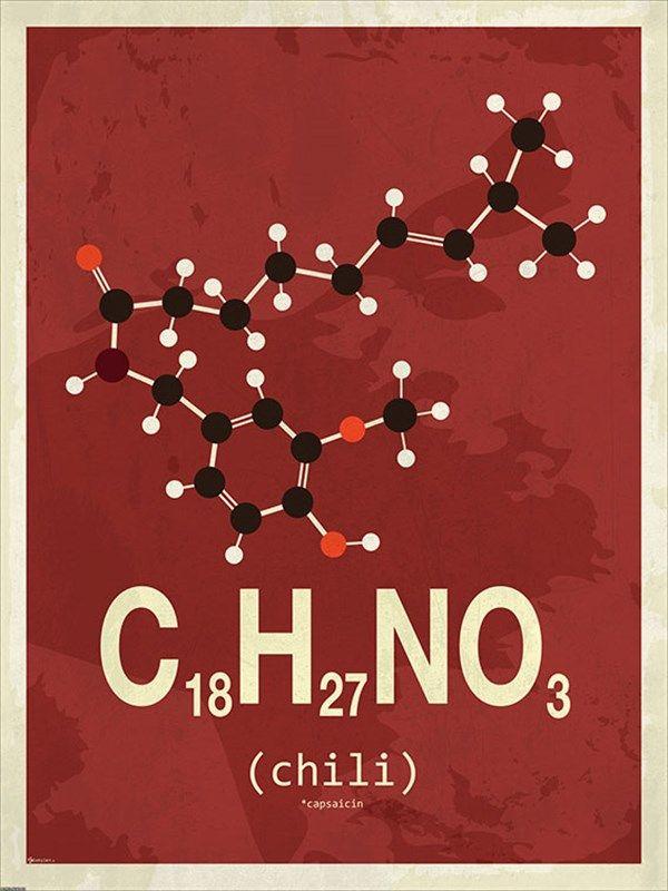 Chili molecule poster