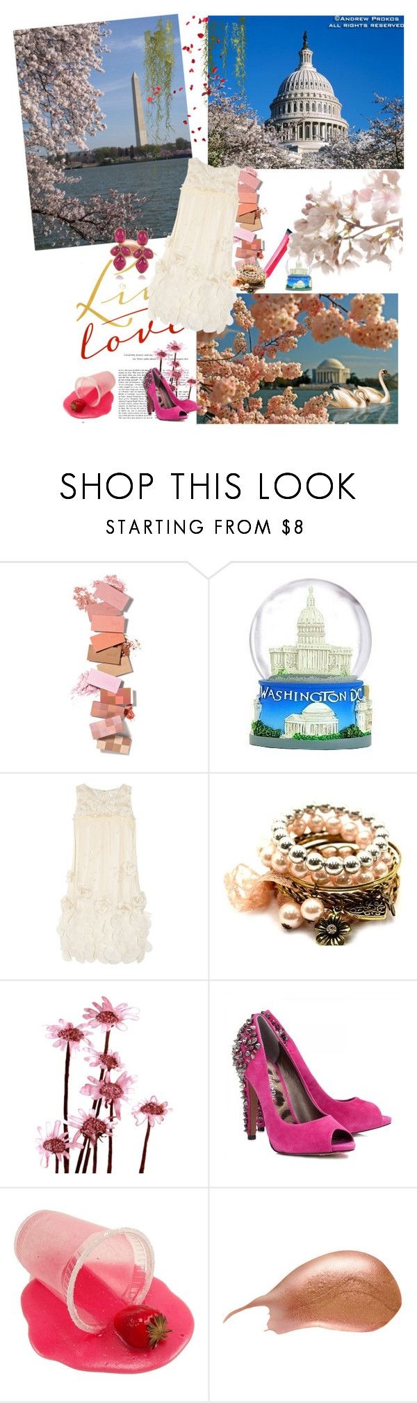 """Washington..."" by jasna ❤ liked on Polyvore featuring DC Shoes, Anna Sui, Fantasy Jewelry Box, Sam Edelman, Hourglass Cosmetics and Oscar de la Renta"