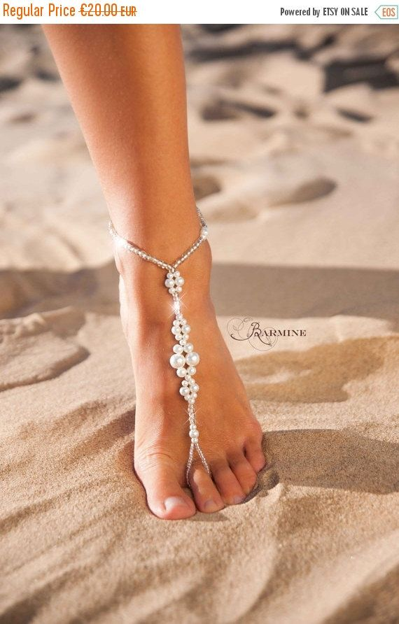 BLACK FRIDAY SALE Wedding barefoot sandals-Bridal barefoot sandals-Foot jewelry-Wedding sandals-Footless sandals-Slave anklet-Wedding Access