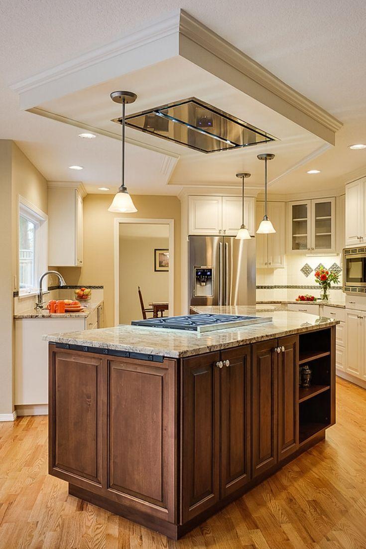 Kitchen Hood Ideas (Glossy Modern Island Range Hood) in 8
