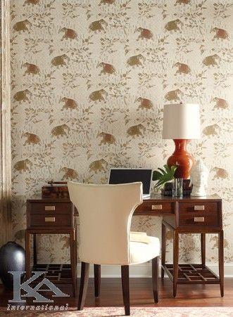 Aminteste-ti cum este sa calatoresti chiar daca esti la biroul de acasa! Animal Wallpaper. Elefant wallpaper. Chair.