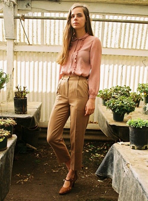 vintage Benetton pants: perfect for work