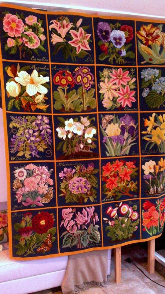Elizabeth Bradley floral rug--I wish!