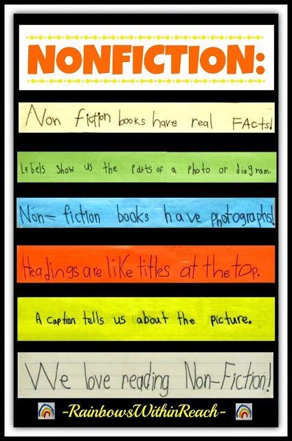 Non-Fiction in Early Elementary: Definitions and Emphasis via RainbowsWIthinReach