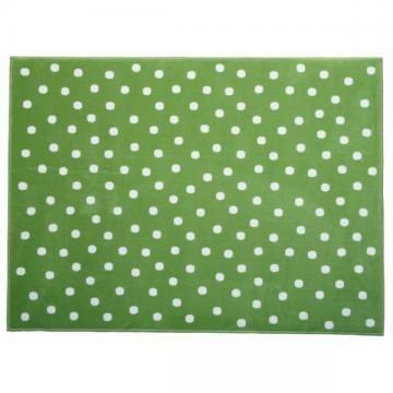 Lorena Canals Kinderteppich Pünktchen grün