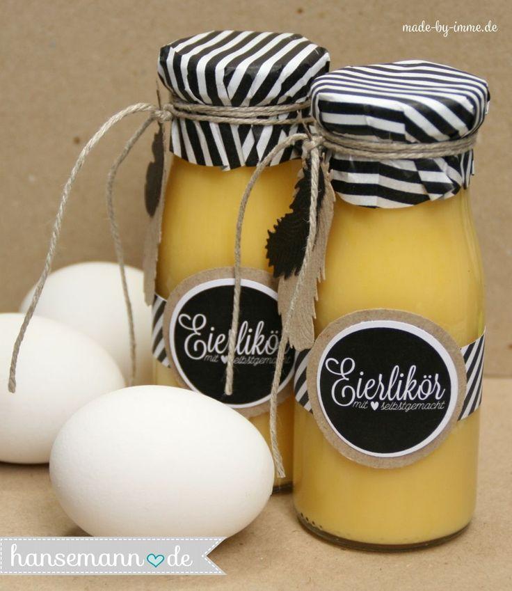 Du brauchst noch schnell ein Ostergeschenk? ...Free Printout & Eierlikör Rezept