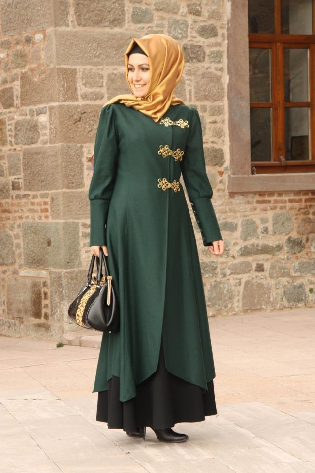 Pretty green coat-dress