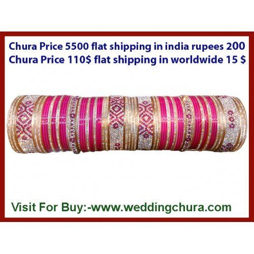 Going to marriage? Wanted   bridal chura in maroon, pink, white in all sizes of full of crystals. The best chura  designes available at www.weddingchura.com .