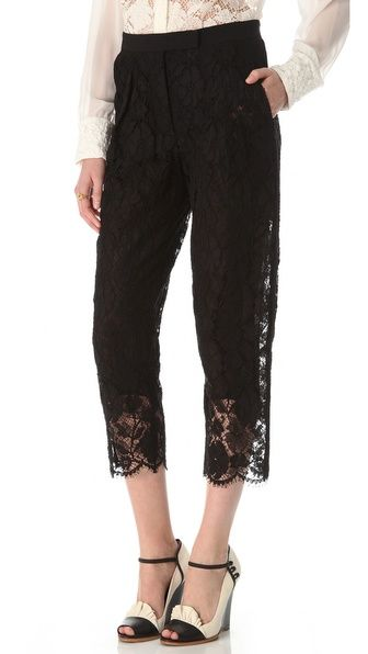 Sonia Rykiel Cropped Lace Pants