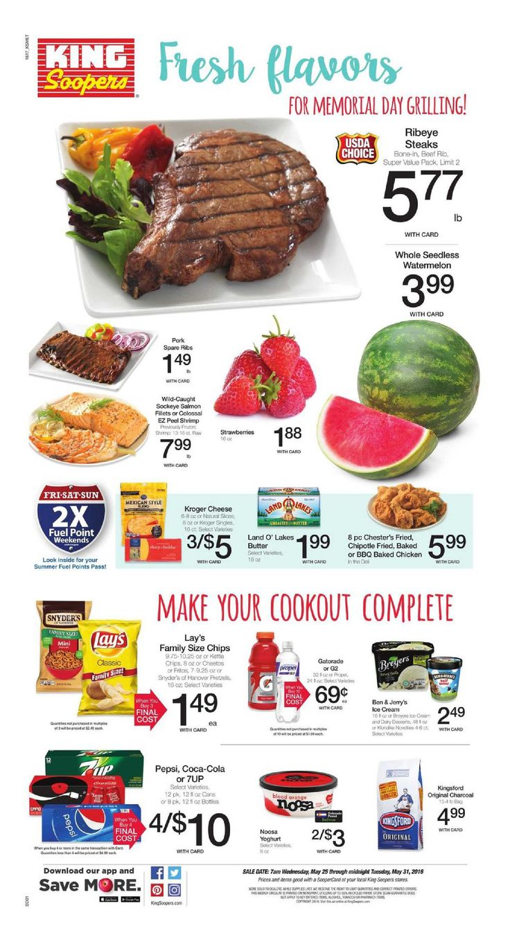 King Soopers weekly ad May 25 - 31, 2016 - http://www.olcatalog.com/grocery/king-soopers-weekly-ad.html