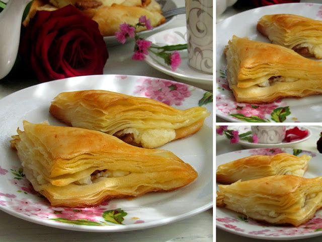 """Постигая искусство кулинарии... : """"Şöbiyet"""" - Вкуснейшая слоеная турецкая сладость с начинкой из манного крема и ореха, пропитанная щербетом"""
