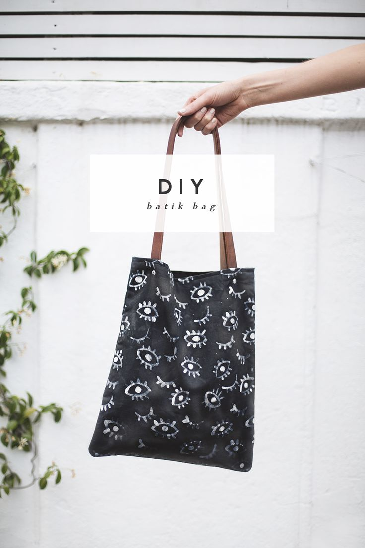 DIY batik eye pattern bag