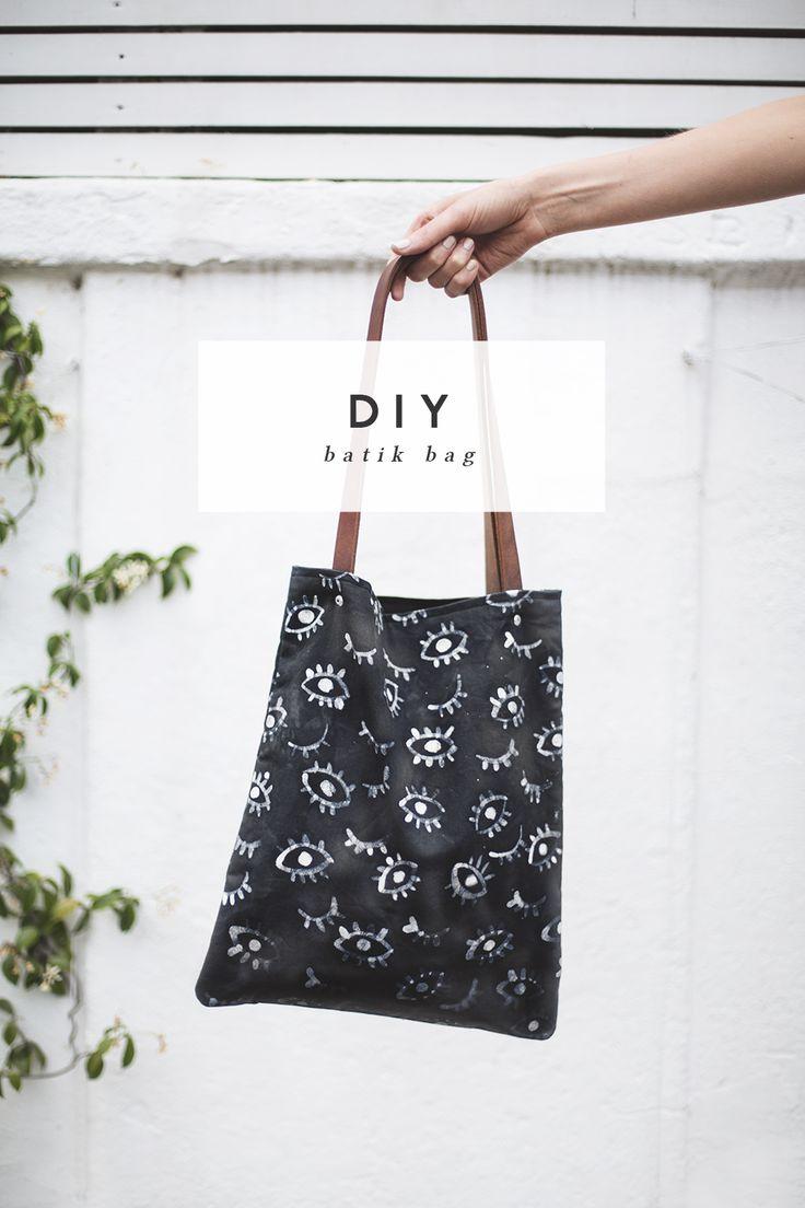 DIY batik eye pattern bag