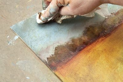 """Try this Painting with Re-Inkers technique from """"Wabi-Sabi Art Workshop"""" in this step-by-step tutorial."""