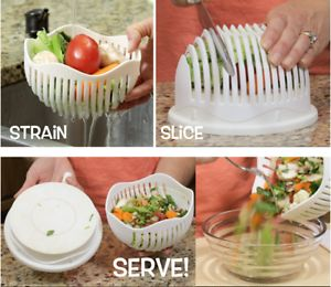 60 Seconds Salad Maker Bowl Cutter Slicer Easy to Make Salad Tool Hot 2017