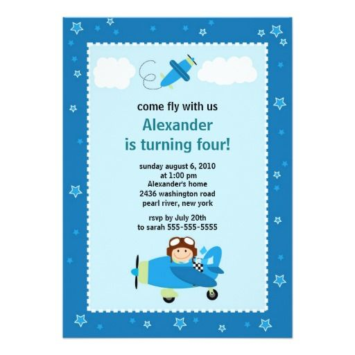 400 best images about Pilots Birthday Party Invitations – Party Invitation Sites