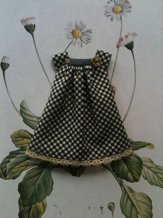 Black Gingham Joni Dress by moshimoshi studio