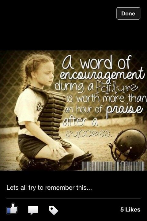 Encouragement ~ Softball! ✌❤⚾