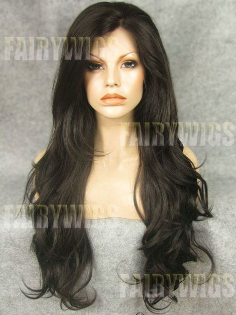 Multi-function Long Sepia Female Wavy Lace Front Hair Wig 24 Inch | Fairywigs.com