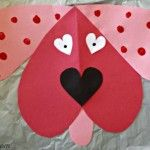 Heart craft for kids part 2
