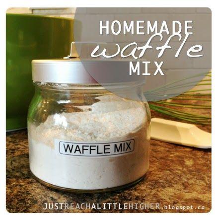 Homemade waffle mix // Just Reach a Little Higher - blog