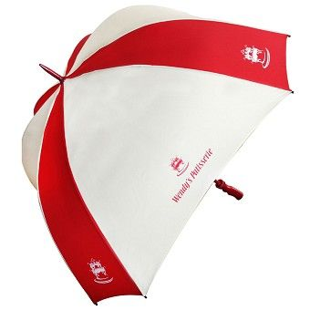 The ultimate promotional umbrella is now available with a square canopy. This allows for a huge print area and provides maximum protection from the elements.   Huge print area allows for even bigger logos and prints  Stormproof steel ribs  UK made bespoke canopies, 50+ stock colours to choose from or total dye sub to any colour in the spectrum   Ergonomic black pistol grip handle as standard  Sports frame  Storm Proof steel Ribs  Number of Panels: 8 .