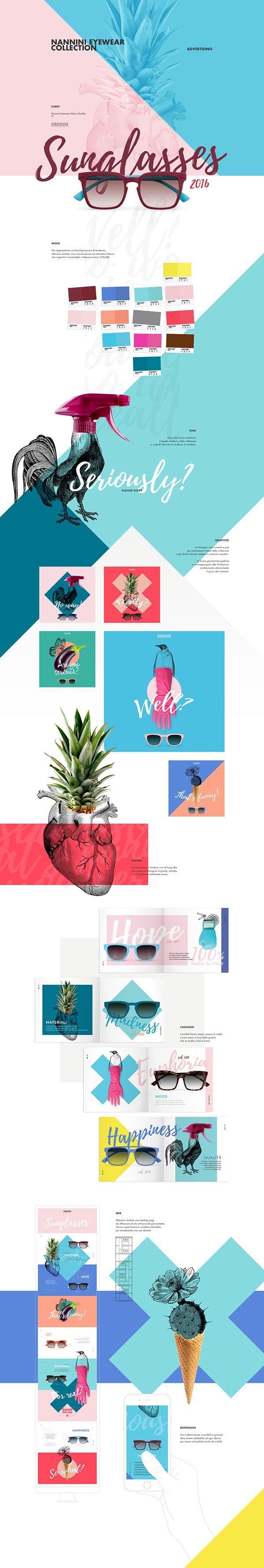 Nannini - Sunglasses Eyeweaa collectionPer rappresentare un brand giovane e di tendenza,abbiamo studiato una comunicazione accattivante e frescache rispecchi il mood della collezione estiva: COLORE.Uno script brioso sottolineal'aspetto moderno della …