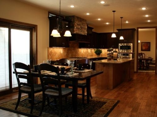 Kitchen And Dining Open Room Remodeling Ideas Pictures