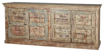 Rustic Mission Reclaimed Wood Sideboard Buffet Cabinet - rustic - Buffets And Sideboards - Sierra Living Concepts