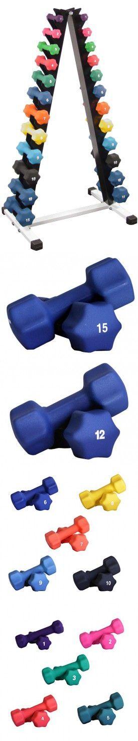 Neoprene Dumbbell Set- 12 Pairs w/ Rack