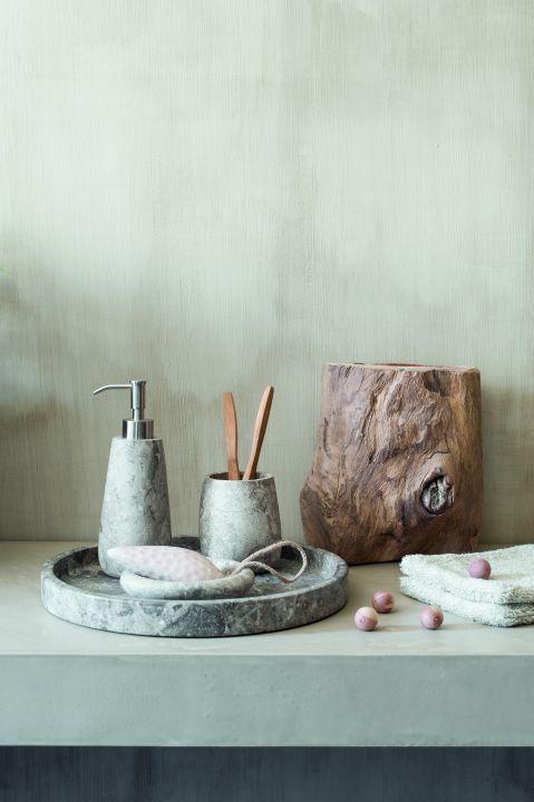 Мраморные баночки для ванной комнаты CONOR | Domus galerija
