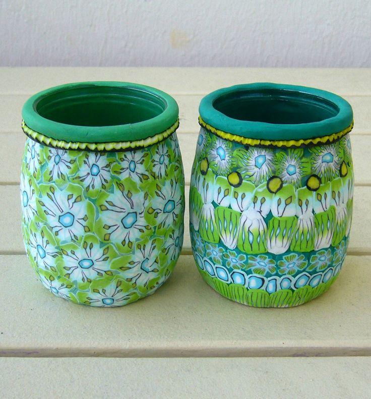 Les 44 meilleures images propos de diy pot de yaourt en verre recyclage s - Recyclage pot de peinture ...