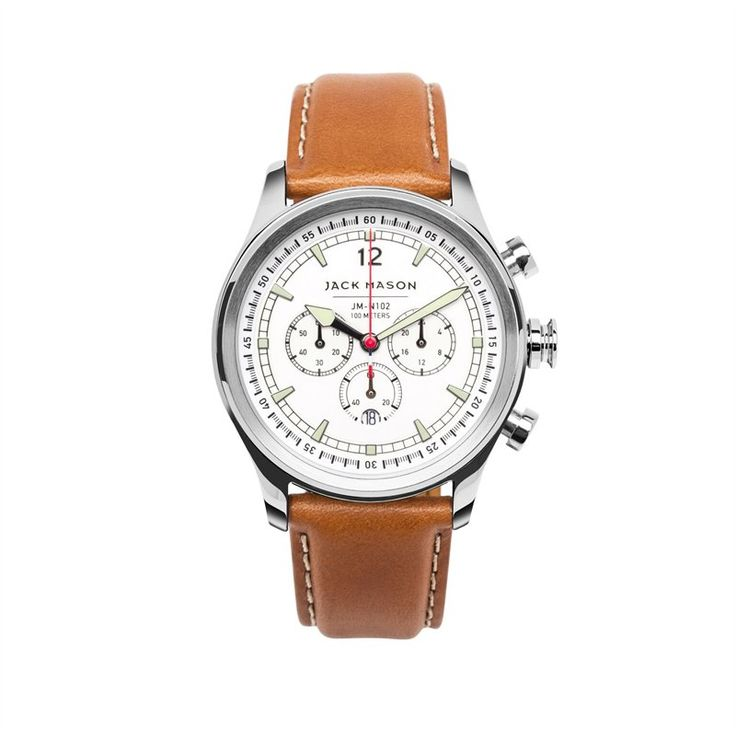 Inspired by by nautical instruments, the 42mm stainless steal case and white dial make this style a classic timepiece for every day wear, and the tan, Italian leather strap provides optimal comfort. Water resistant up to 10 ATM/100 metres. 42mm.
